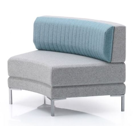 Horay Curved Sofa With A Low Back