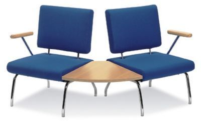 Blue Konnect Chairs With A 60 Degree Table