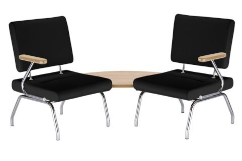 Konnect Chairs In Havana Fabric With 90 Degree Table