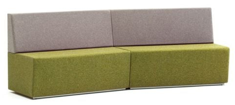 Four Seater Modular Concave Sofa With A Low Back