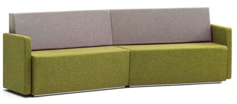 Totem Four Seater Concave Sofa With Arms