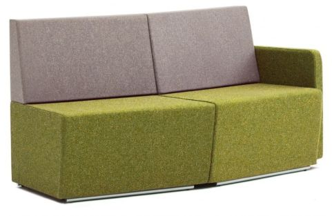 Totem Convex Curved Sofa With Low Backs And A Single Arm