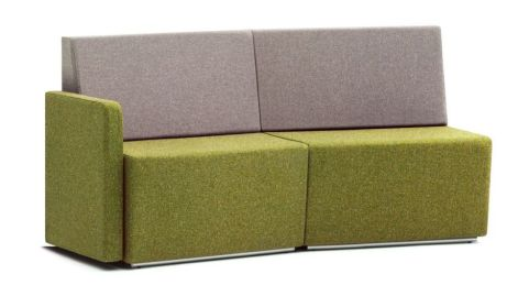 Totem Modular Convexed Curved Sofa With A Single Arm