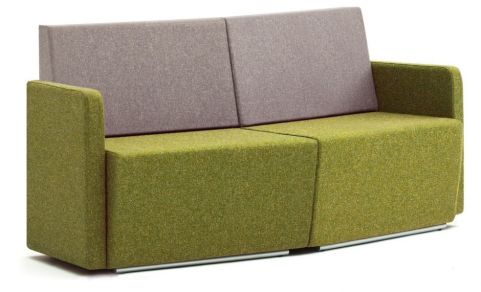 Totem Two Seater Convex Curved Sofa Wit A Low Back And Arms