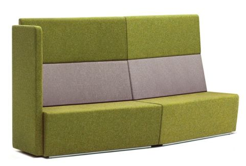 Totem Convex Curved Sofa With A Single Arm And Extra High Back