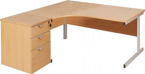 Draycott Left Hand Corner Desk And Pedestal