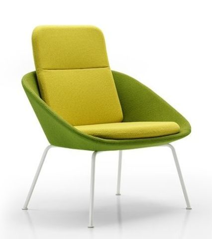 Squish Designer Chair With An Extra High Back And White Frame