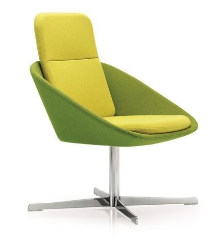 Squish Designer Chair With An Extra High Back And Four Star Polished Base