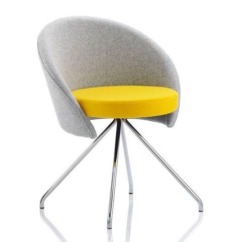 Venus Tub Chair With Chrome Angled Legs