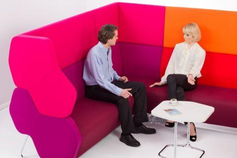 Hex Extra High Modular Sofas In A Corner Arrangement