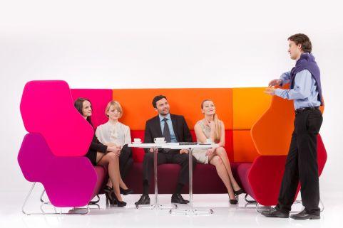 Hex Modular Coloured Sofa Comination