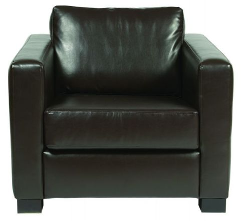 Rosco Single Seater Brown Leather Sofa