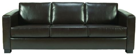 Rosco Three Seater Brown Leather Sofa