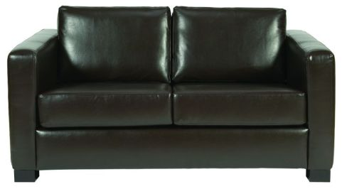 Rosco Two Seater Brown Leather Sofa
