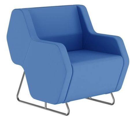 Hex Single Seater Modular Sofa With Low Arms