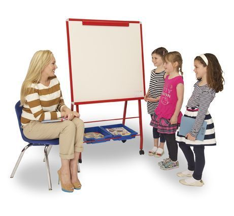 Rainbow Mobile Classroom Whiteboard Easel
