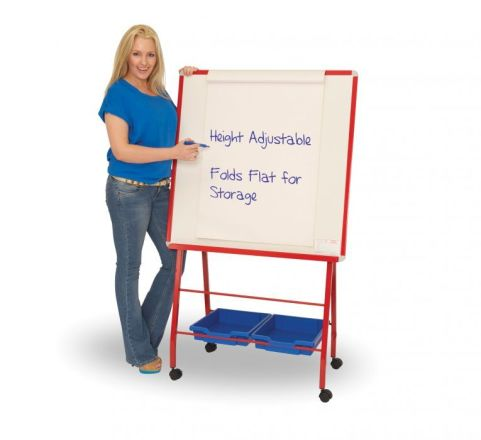 Rainbow Mobile Whiteboard Easel For Classrooms
