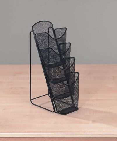 Mesh Table Top Leaflet Holder 4 X A4