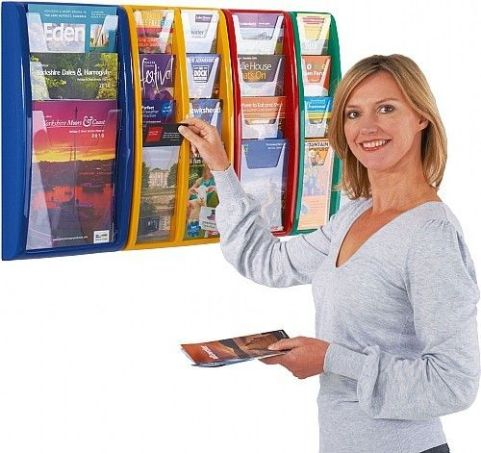 Panorama Wall Mounted Leaflet Disply Combo