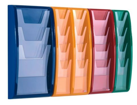 Panorama Wall Mounted Leaflet Holders Colours