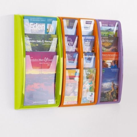 Panorama Wall Mounted Leaflet Holders New Colours