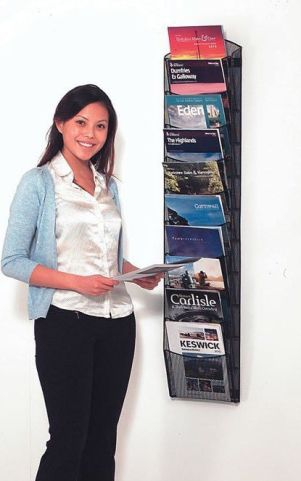 Leaflet Wall Mounted Mesh Leaflet Display 10 X A4