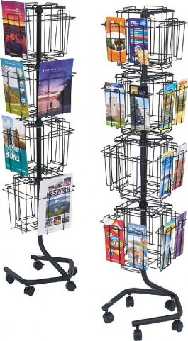 Ultra Wire Revolving Leaflet Stands