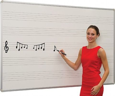 Ultra Dry Wipe Board With Music Markings