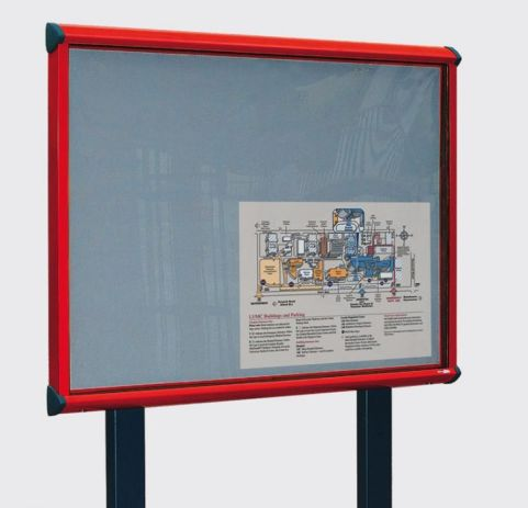 Shield Post Mounted Exterior Noticeboard