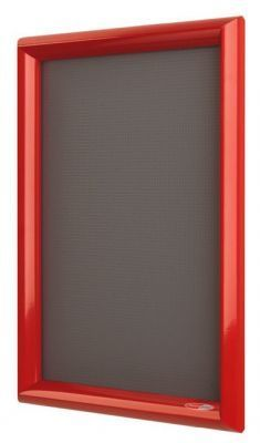 Shield Poster Display Red Frame