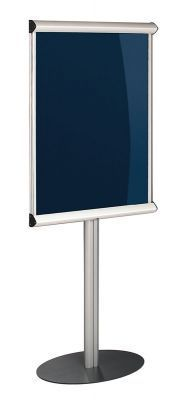 Shield Freestanding Foyer Showcase Noticeboard With Lift Off Cover