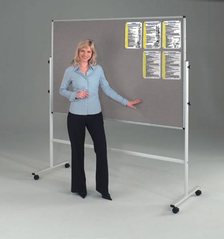Sq Two Sided Freestanding Mobile Noticeboard