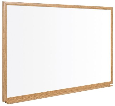 Earth It Executive Whiteboard With A Light Oak Frame