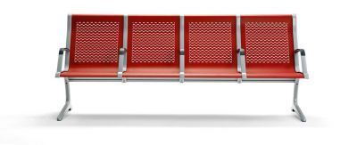 Passport Metal Concourse Seating With Red Seats