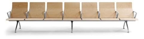 Avanti Wooden Beam Seating Front View