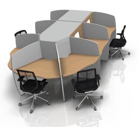 Offimat Seven Person Call Centre Cluster Desks