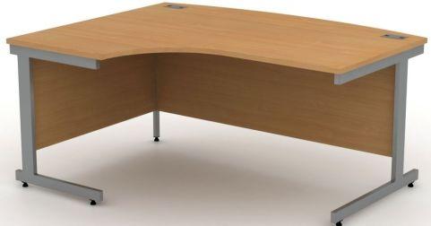 Avalon Left Handed Bow Front Corner Desk