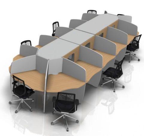 Offimat 14 Person Call Centre Desk