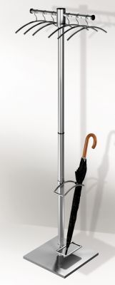 Aveto 2 Stainless Steel Coat Stand