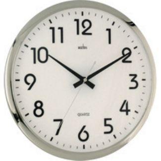 Orion Chrome Wall Clock