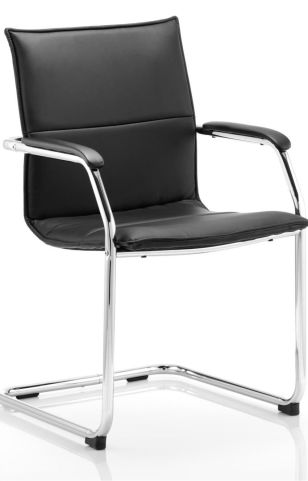 Denton Conference Chair In Black Leather