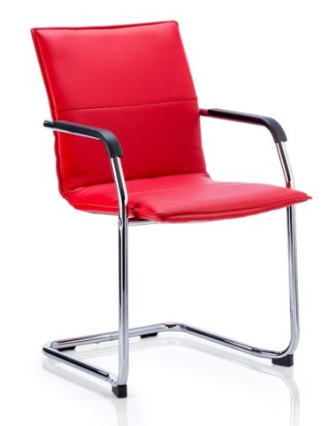Denton Coneference Chair In Red Leather