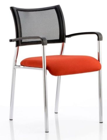 Brunswick Mesh Conference Chair With Custom Fabric Seat