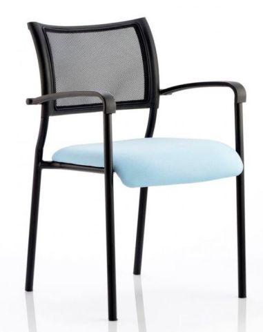 Bruswich Arm Chair Light Blue Seat Blacjk Frame