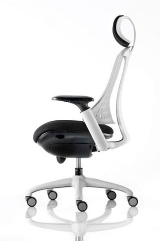 Reactive Ergo Chair With Headrest Side View