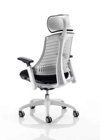 Reactive Ergo Chair With Headrest Rear View