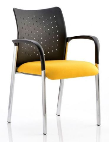 Breeze Conference Armchair Yellow Fabric