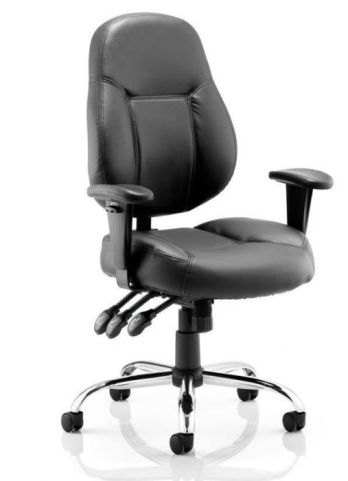 Minster Black Leather Task Chair