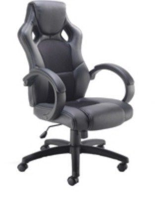 F1 Black Faux Leather And Mesh Executive Chair