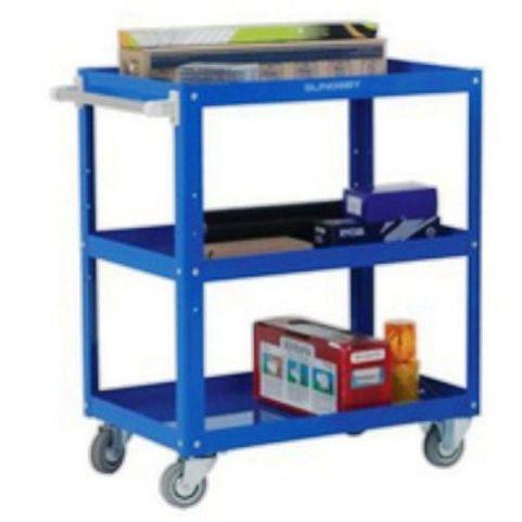 Worker Adjustable Tray Trolley